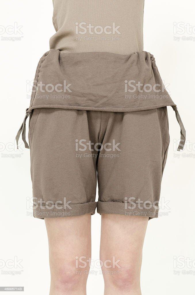 Fashion short pants stock photo