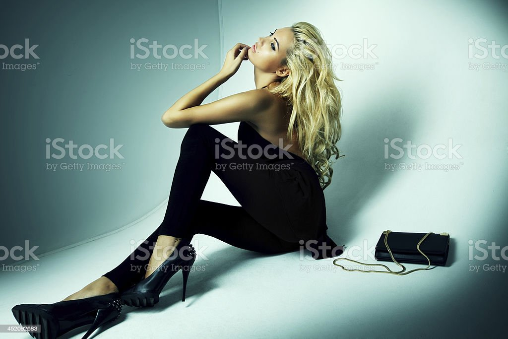 Fashion shot of a woman stock photo
