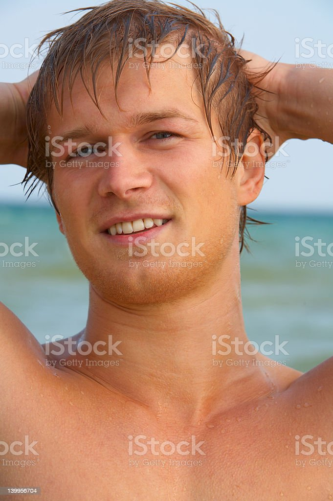 Fashion Shot of a Young Man royalty-free stock photo