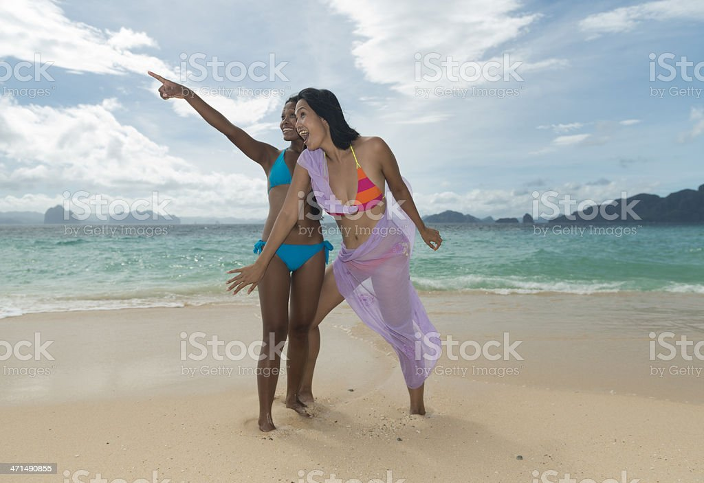 Fashion shot of Philippinas on the Exotic beach royalty-free stock photo