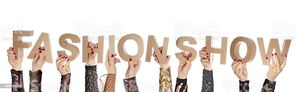 Fashion show fashionable hands stock photo