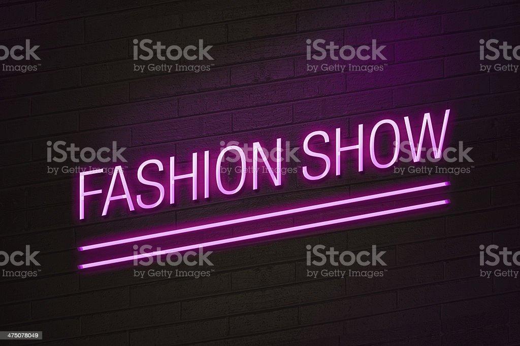 Fashion show neon sign stock photo