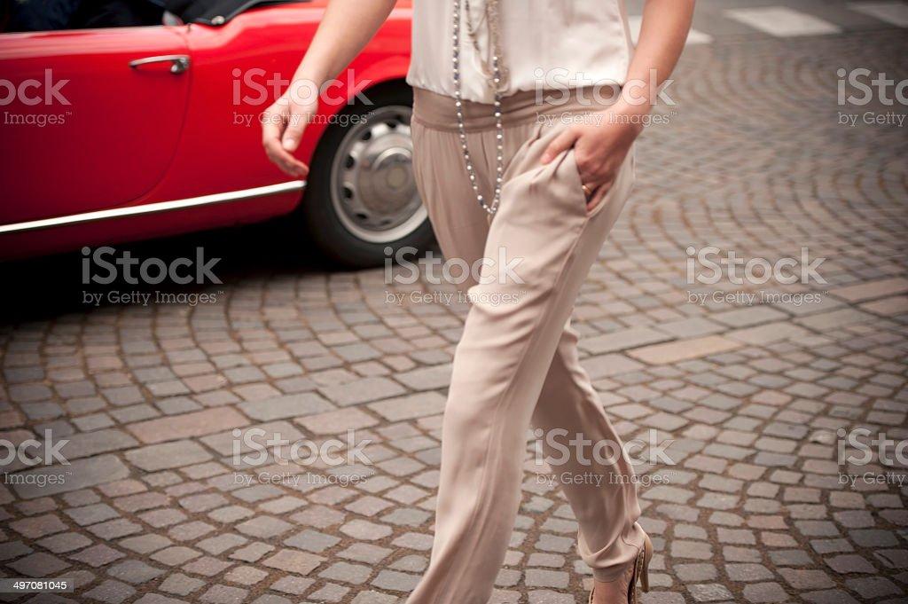 Fashion Show on a Street stock photo