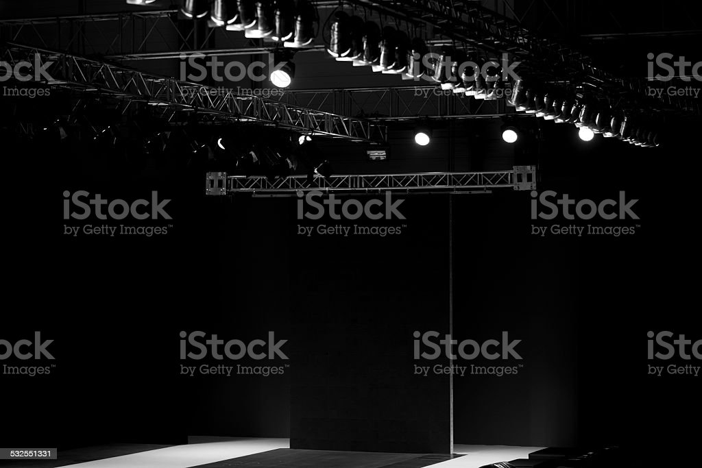 Fashion show stage stock photo