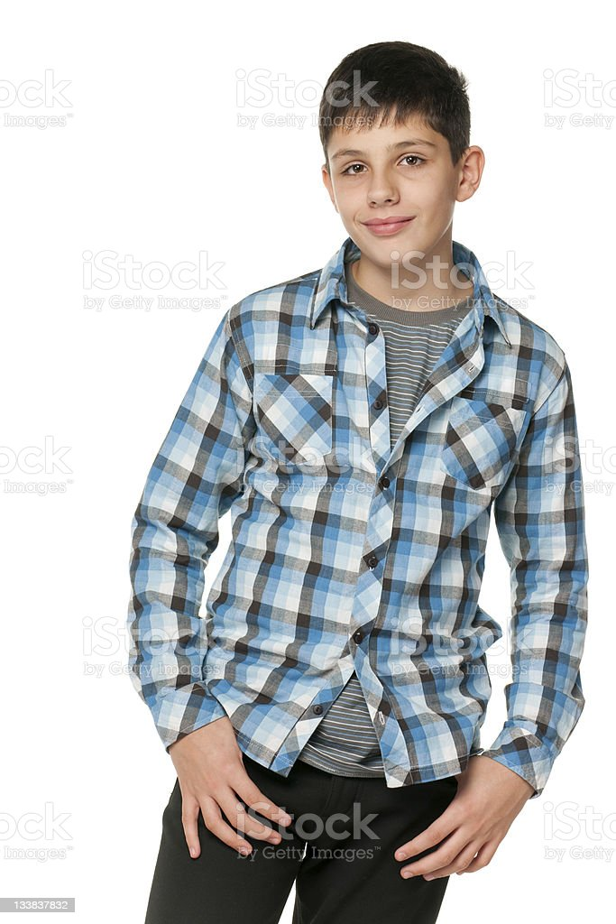 Fashion smiling teen stock photo