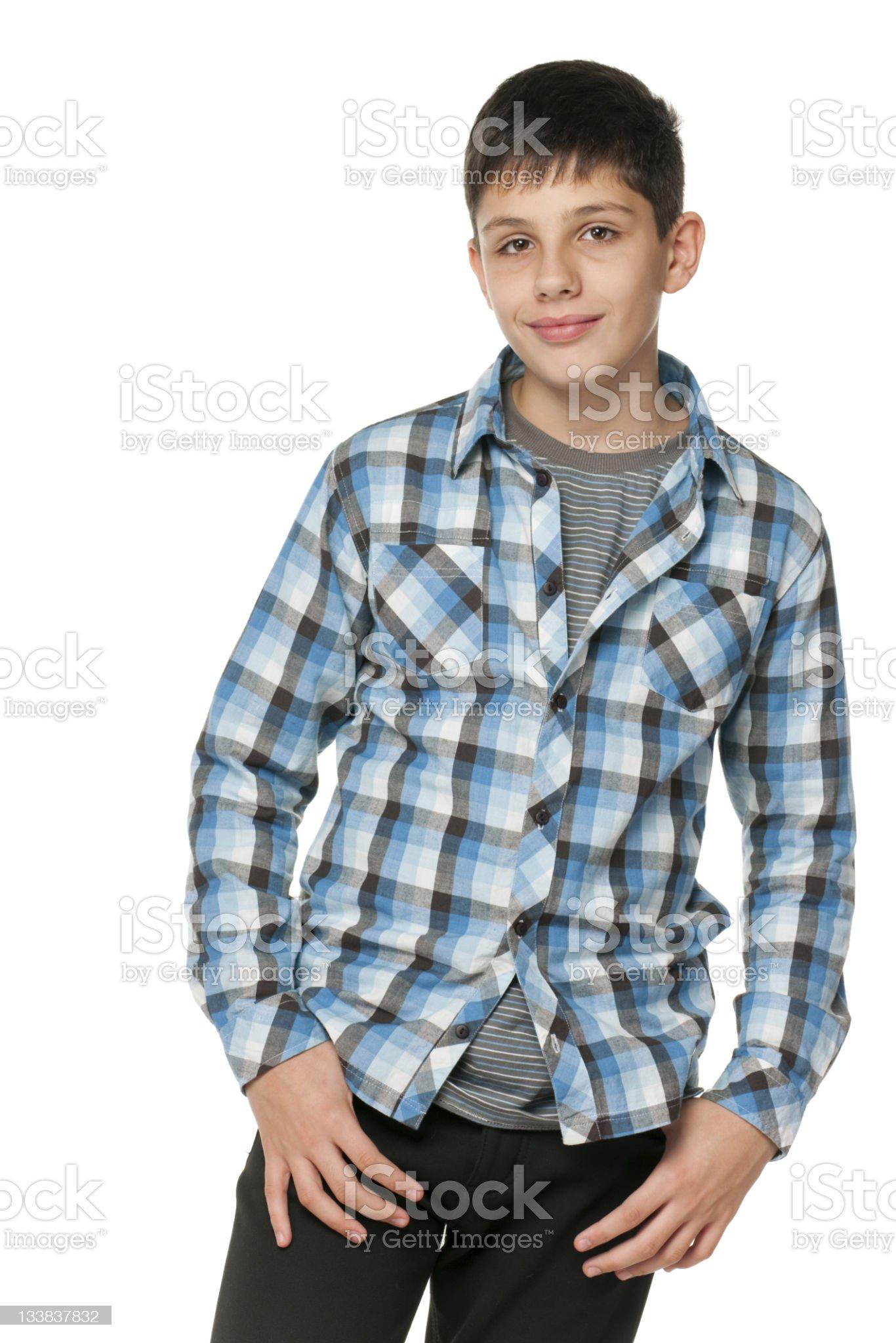 Fashion smiling teen royalty-free stock photo