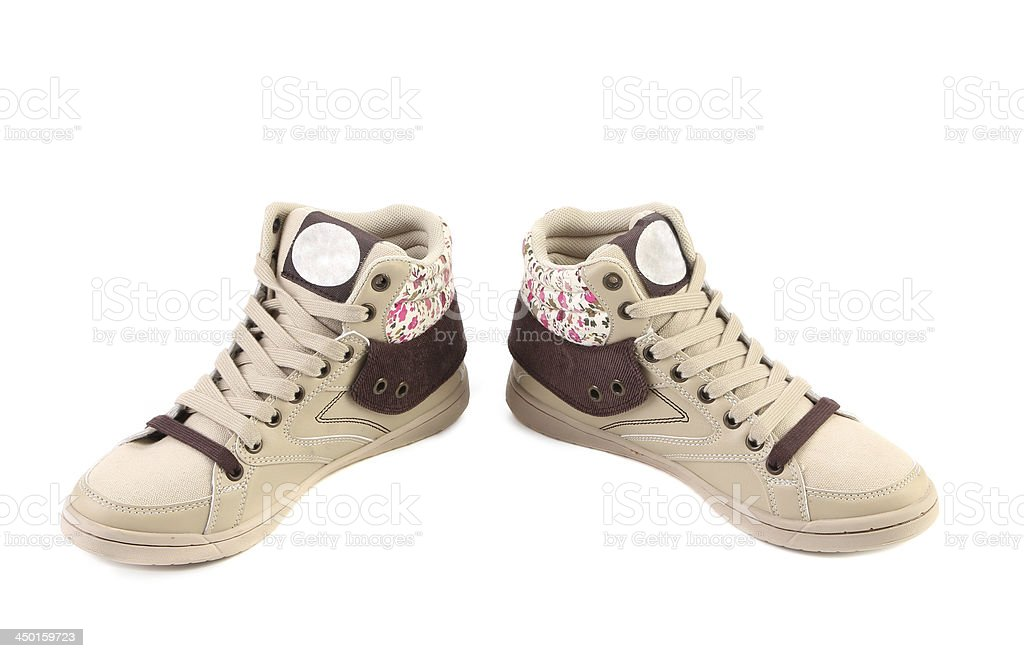 Fashion sneakers closeup. royalty-free stock photo