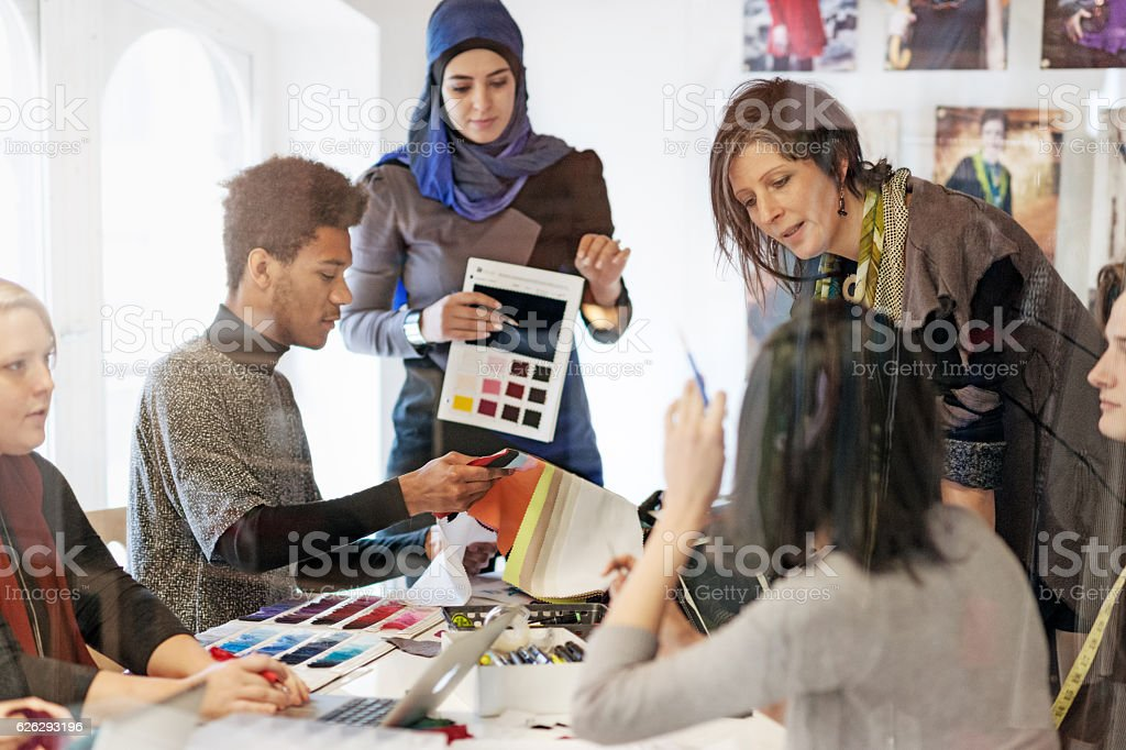 Fashion Startup Business Meeting stock photo