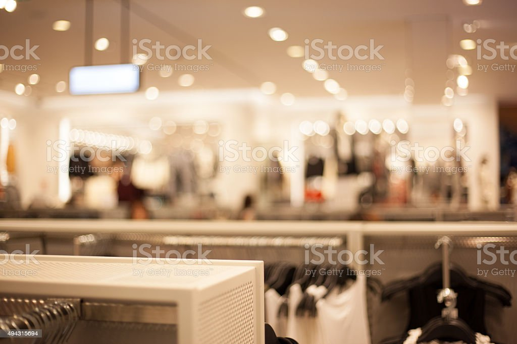 Fashion Store Abstract Defocused Blurred Background stock photo