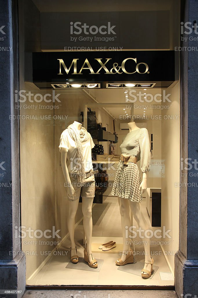 Fashion store - Max & Co royalty-free stock photo