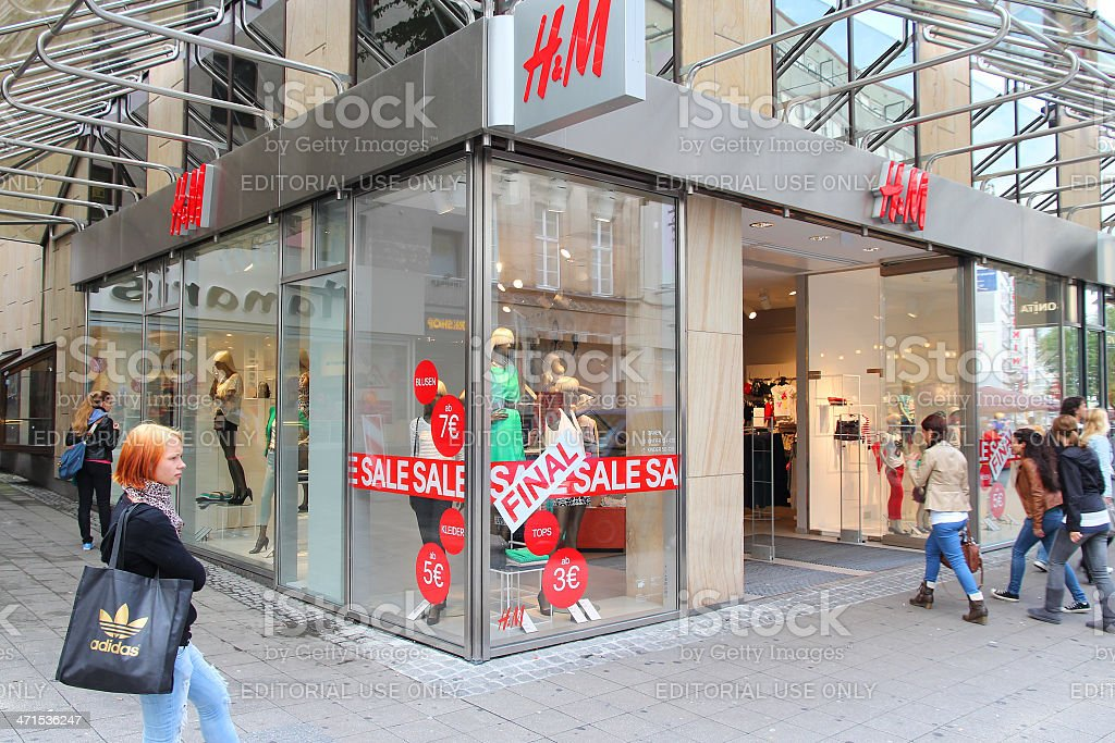 H&M fashion store royalty-free stock photo