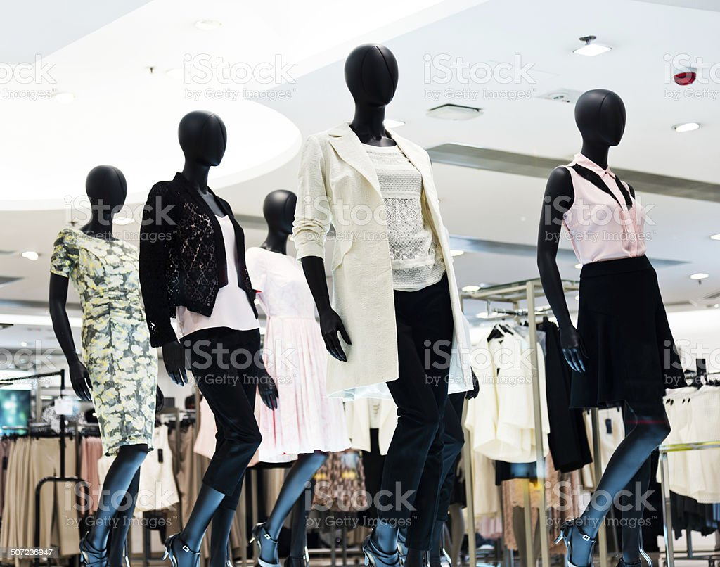 Fashion store stock photo