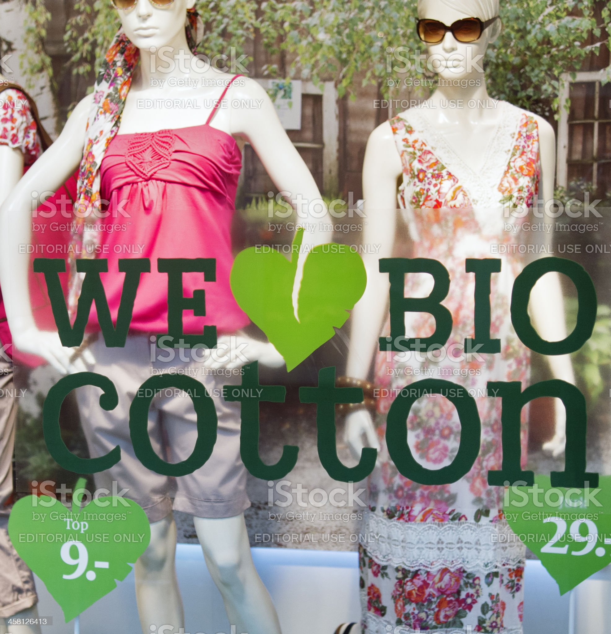 Fashion store window display royalty-free stock photo