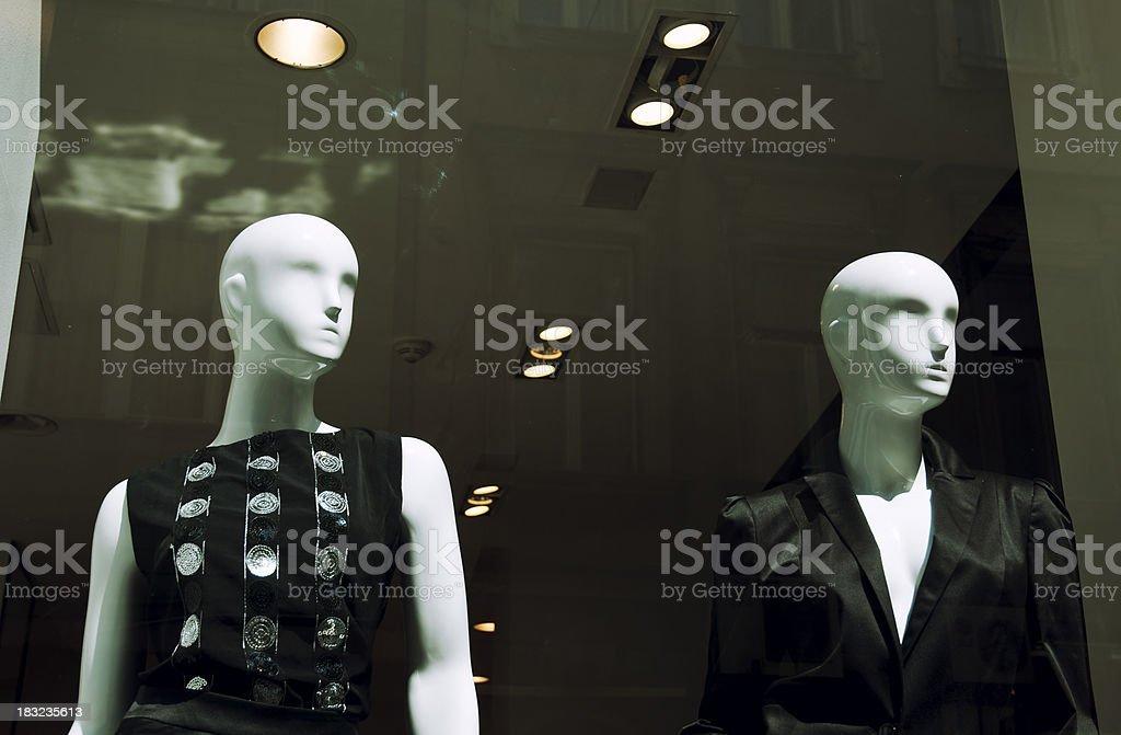 Fashion store window royalty-free stock photo