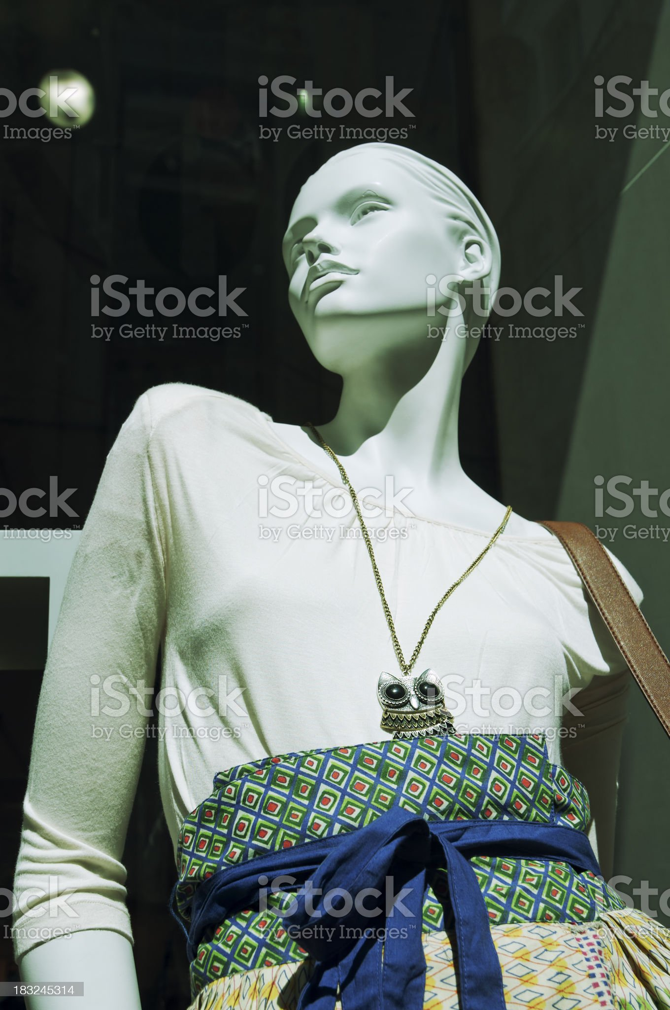 Fashion store window royalty-free stock photo