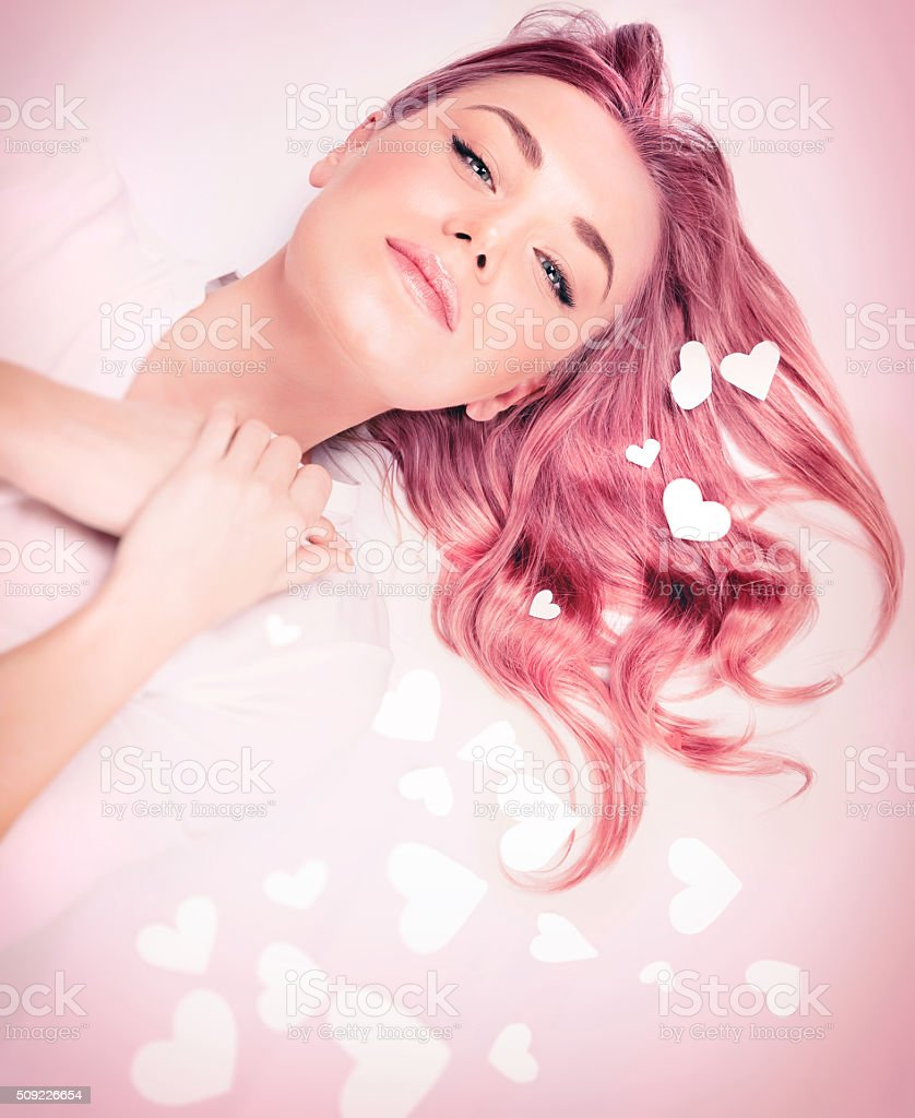 Fashion style for Valentine day stock photo