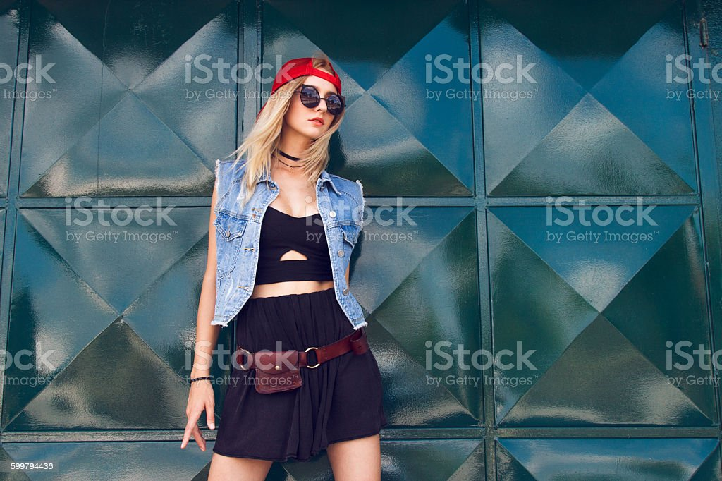 Fashion stylish girl stock photo