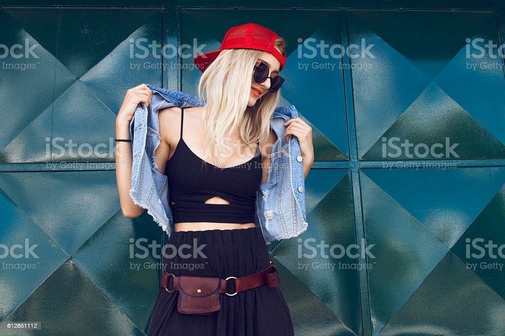Fashion stylish girl stock photo
