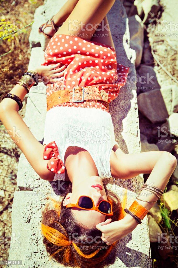 Fashion Trend 2012 - Orange stock photo