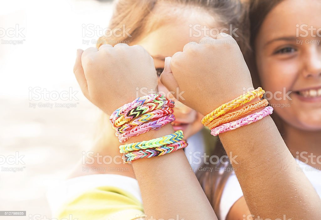 fashion trend for little girls stock photo