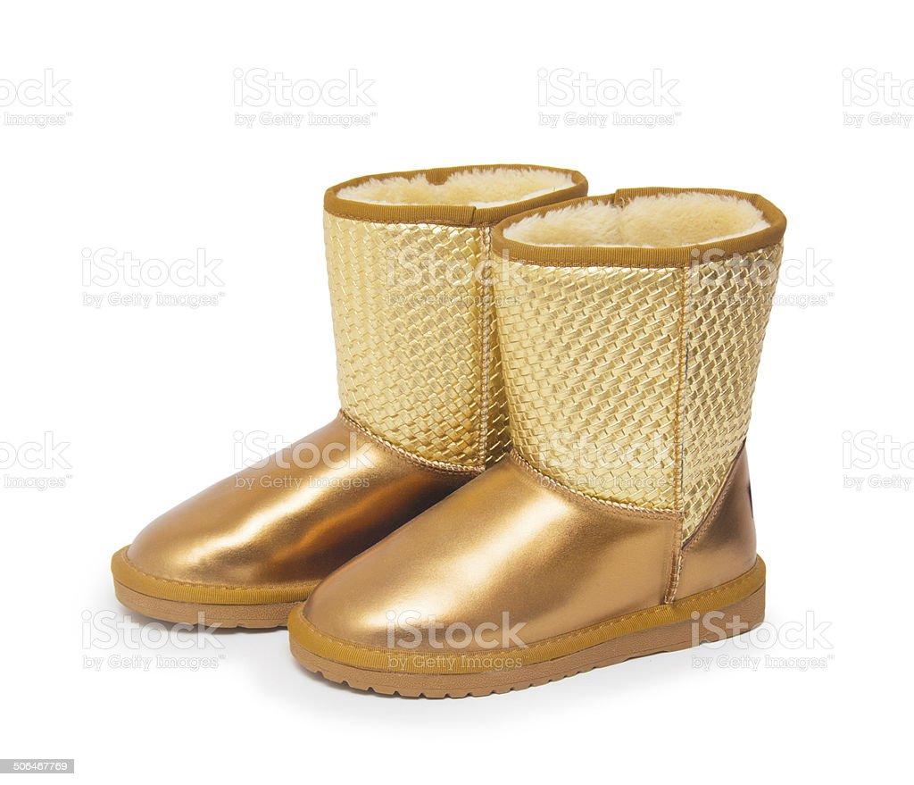 Fashion winter boots stock photo