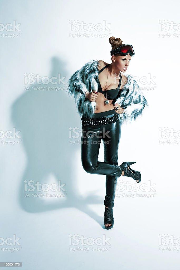 Fashion Winter Woman royalty-free stock photo