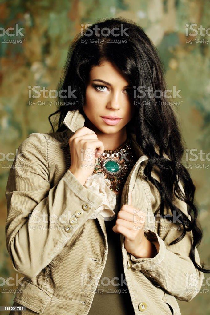 Fashion woman, beauty portrait stock photo