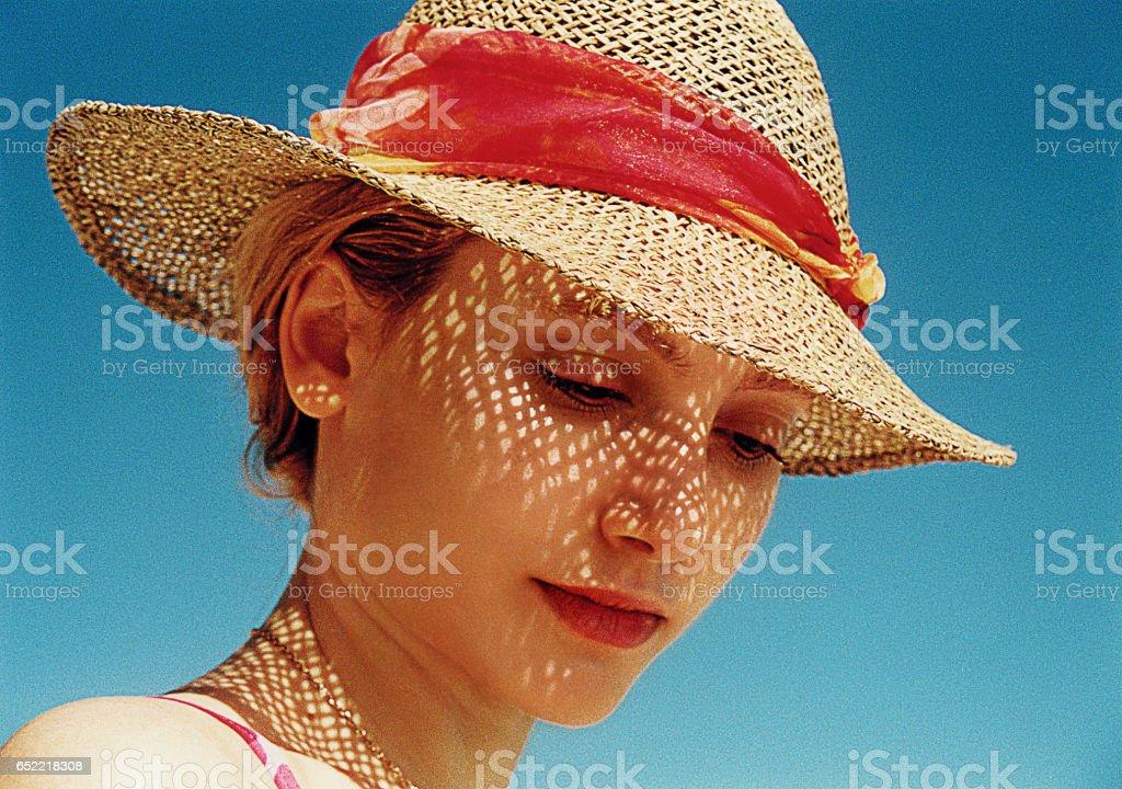 Fashion woman close up stock photo