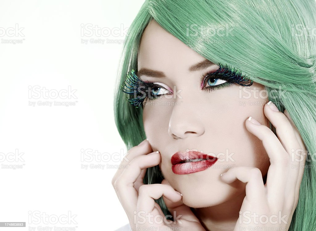 fashion woman portrair stock photo