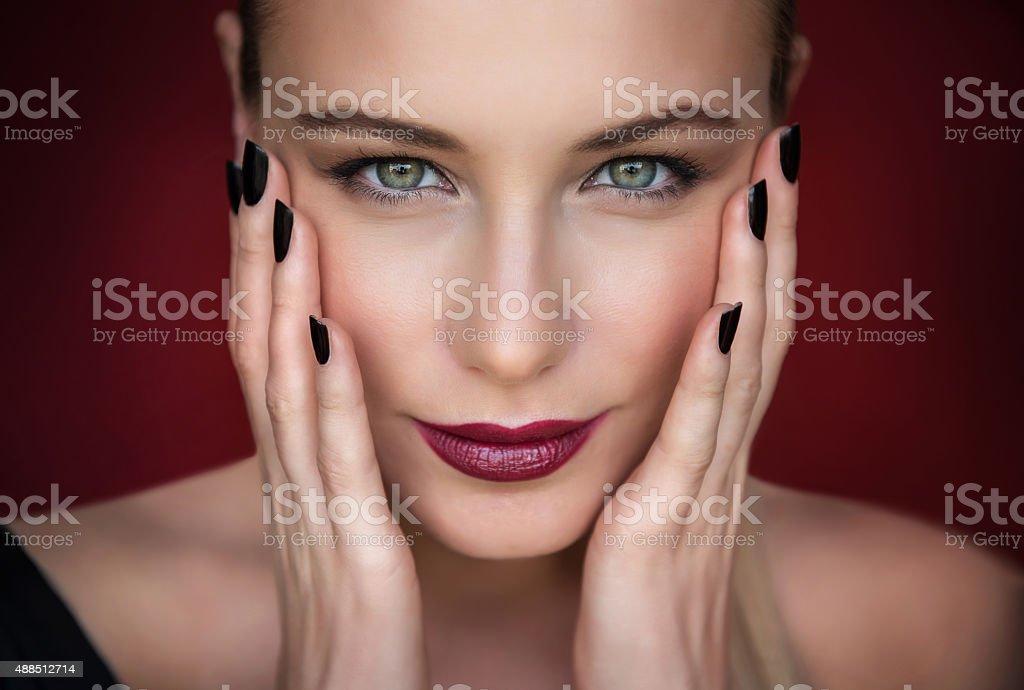 Fashion woman portrait stock photo