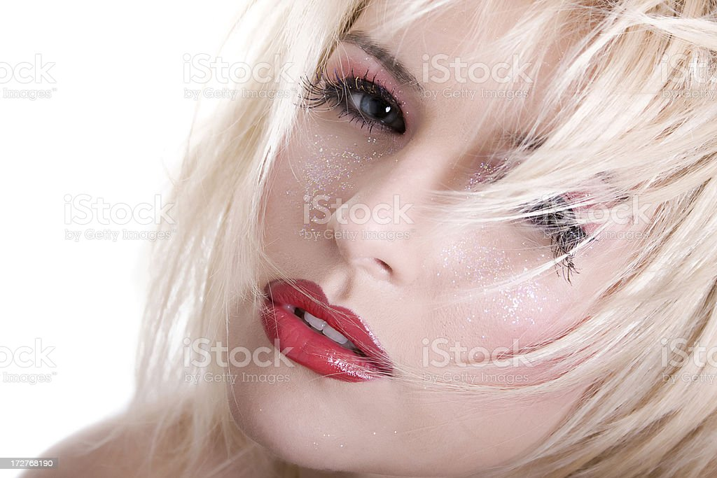 Fashion woman with crazy hair royalty-free stock photo