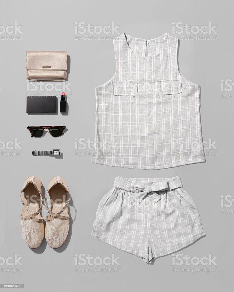 Fashion women accessories of costume isolated with clipping path stock photo