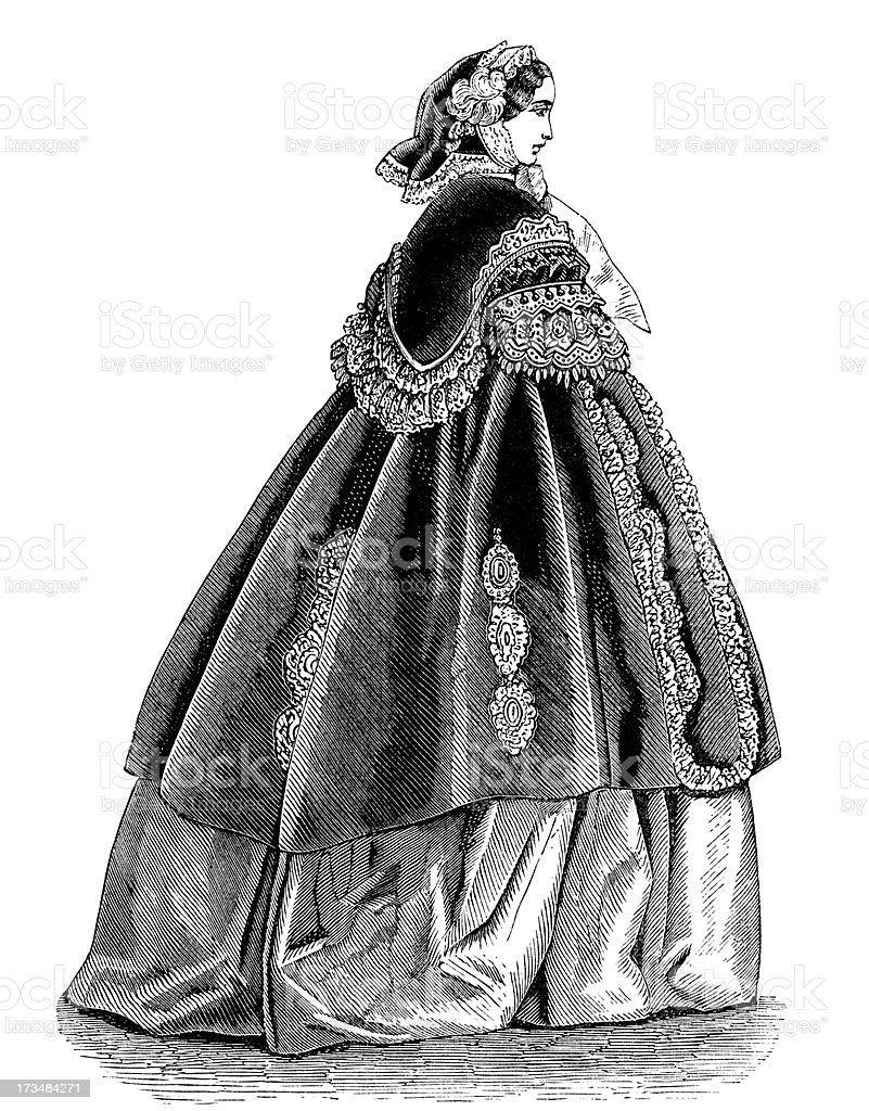 Fashion,19th century style. stock photo
