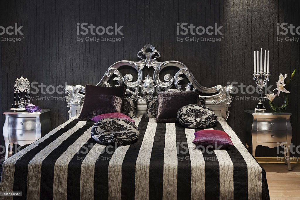 fashionable bed royalty-free stock photo