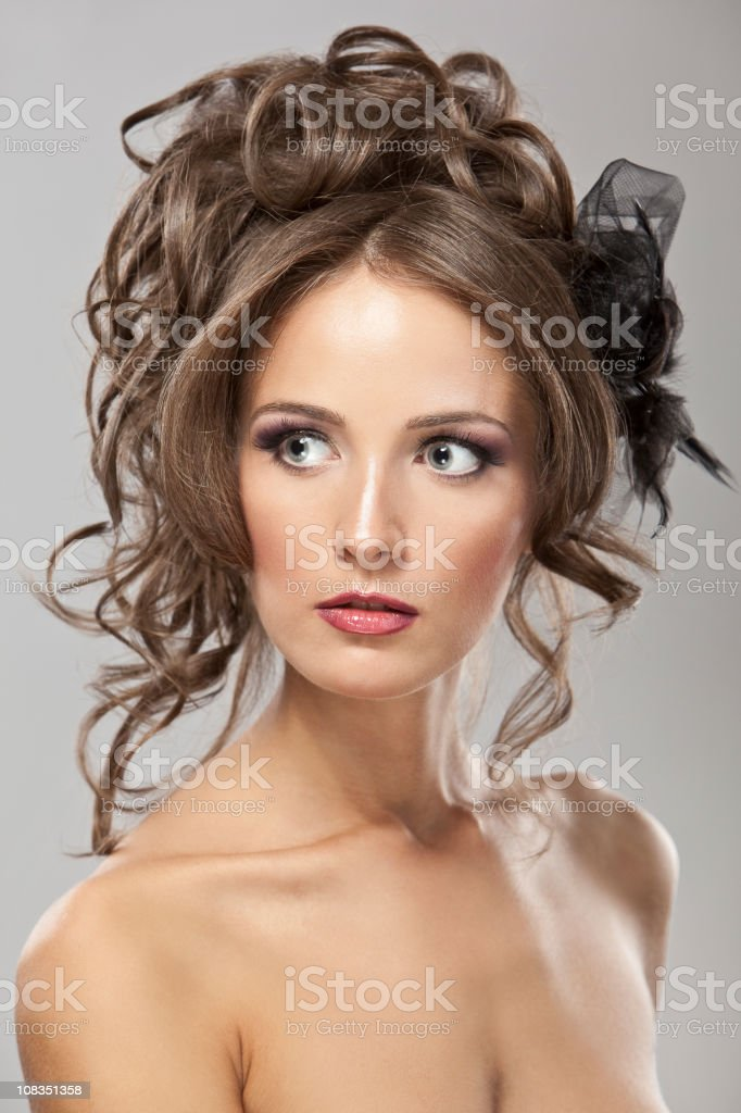Fashionable bride hair-style royalty-free stock photo