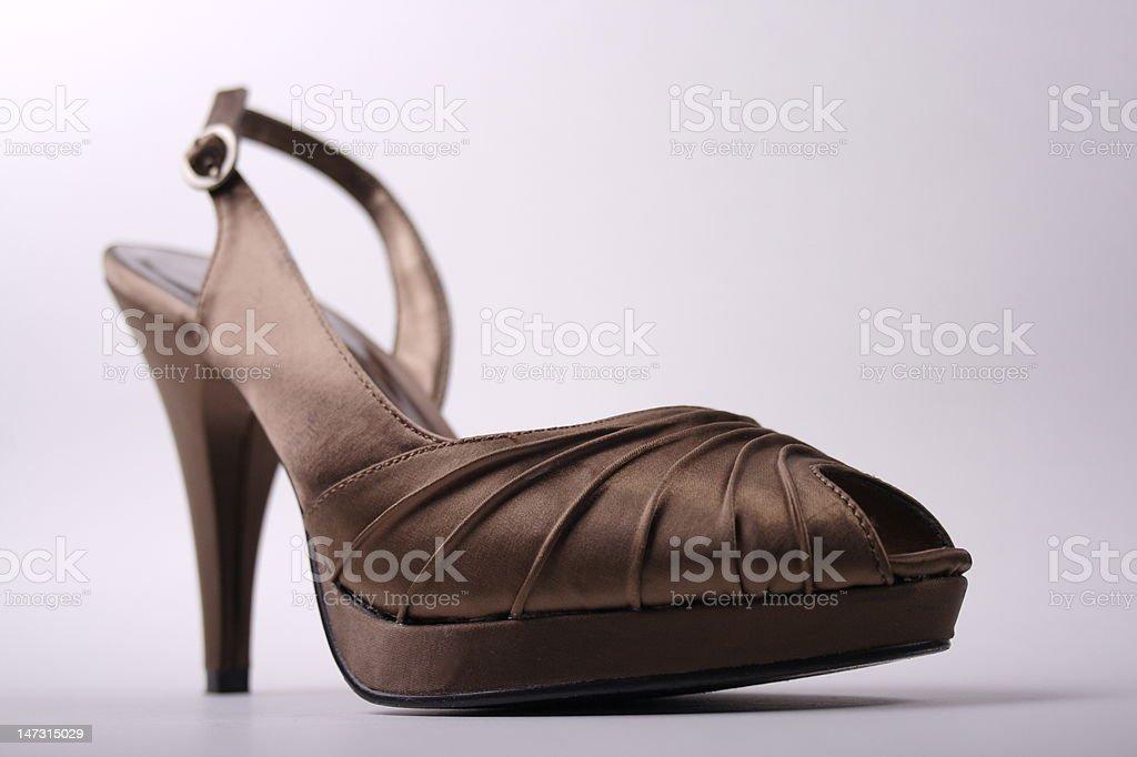 Fashionable Chocolate Brown High Heel royalty-free stock photo