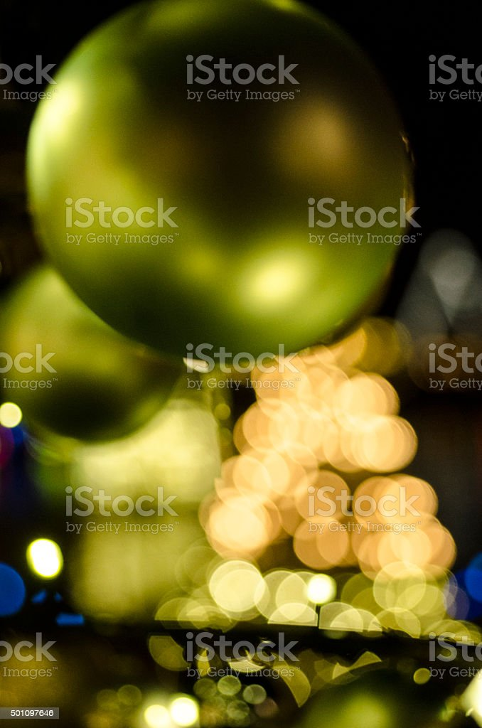 Fashionable Christmas balls in beautiful colours. stock photo