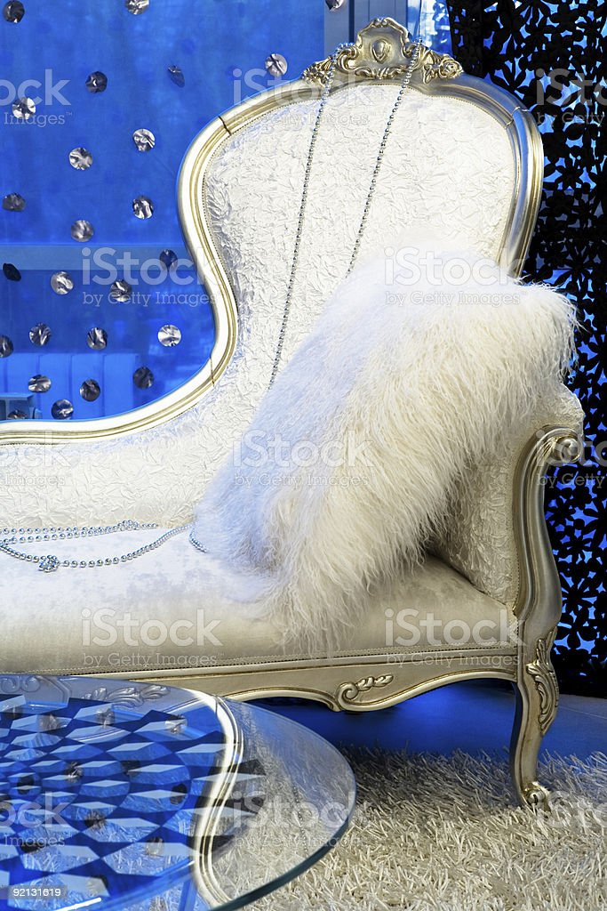 Fashionable couch royalty-free stock photo