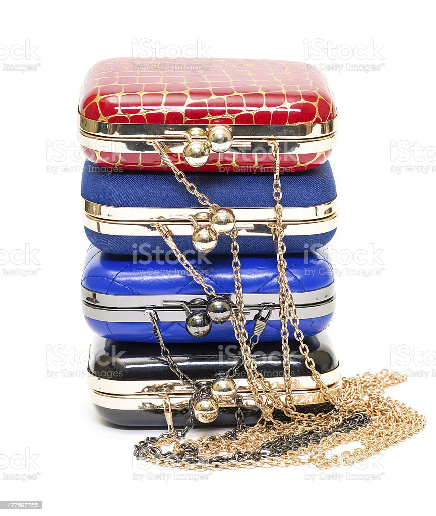 Fashionable female handbags royalty-free stock photo