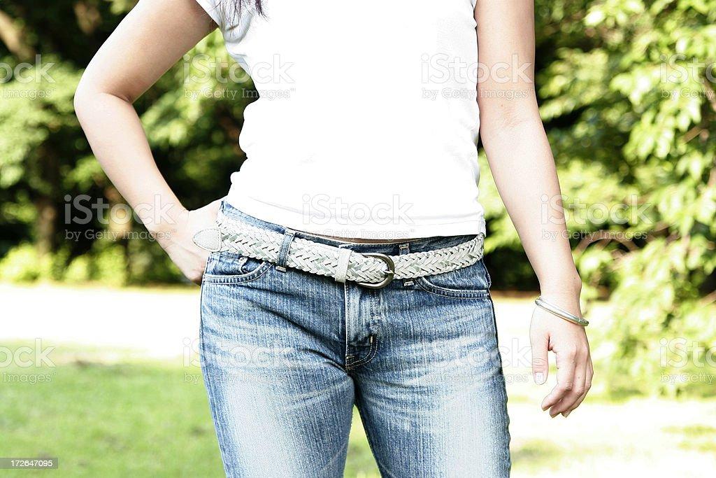 Fashionable female royalty-free stock photo
