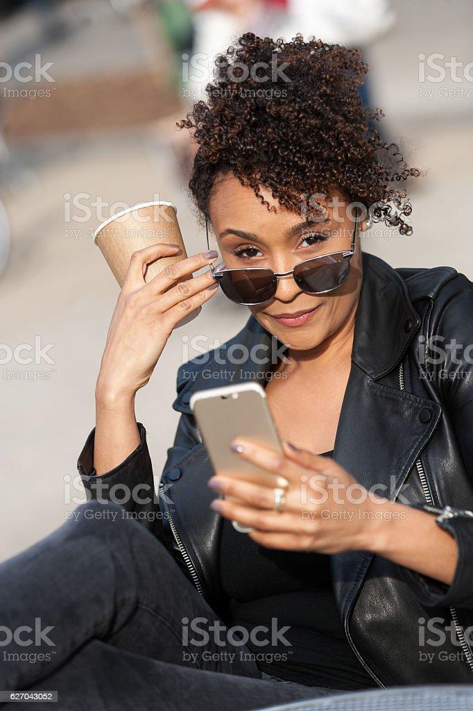 fashionable girl with an attitude stock photo
