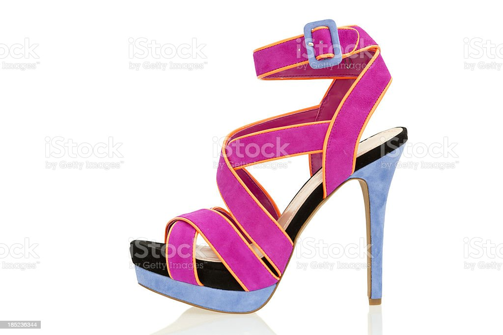 Fashionable High Heels sandal in fancy colors stock photo