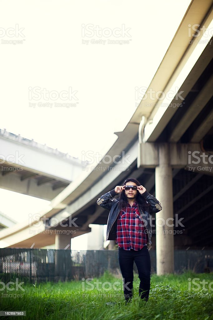 Fashionable Hipster Young Man royalty-free stock photo