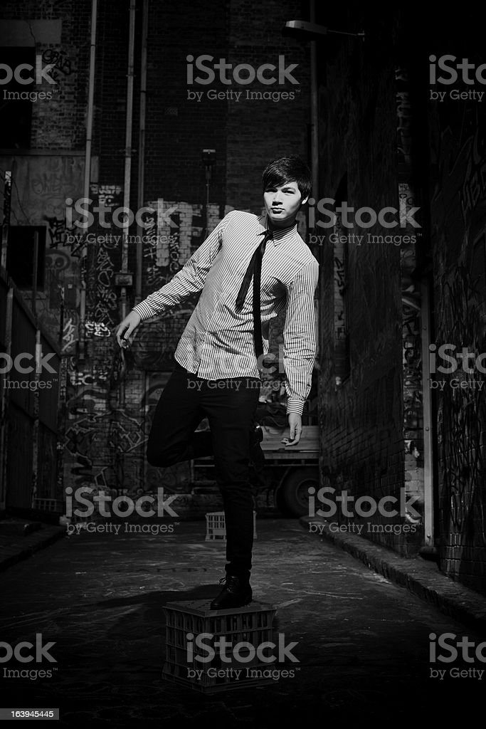 Fashionable Male in Monochrome royalty-free stock photo