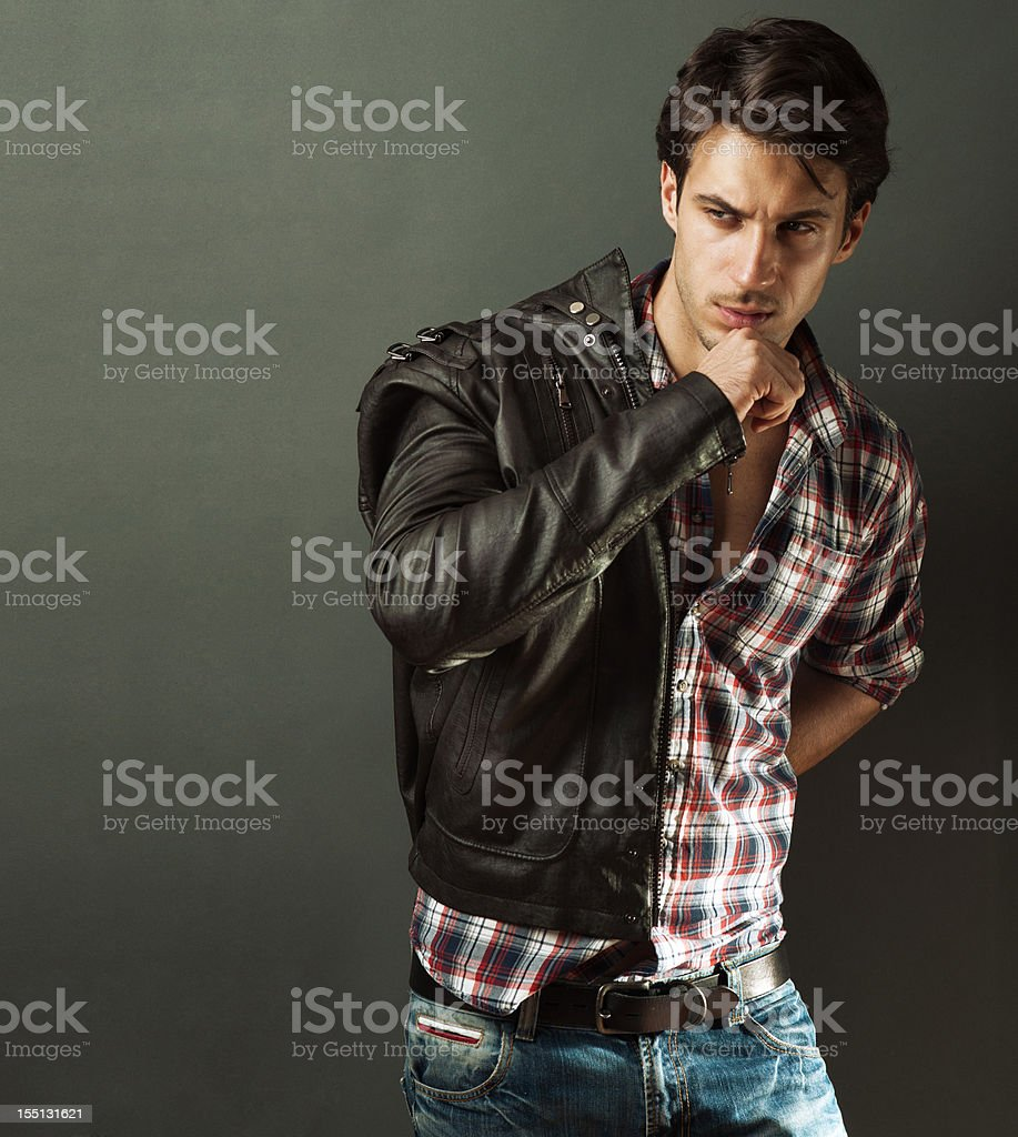 fashionable male model royalty-free stock photo