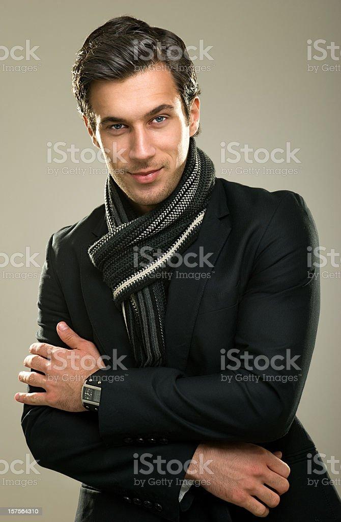 Fashionable male model royalty-free stock photo