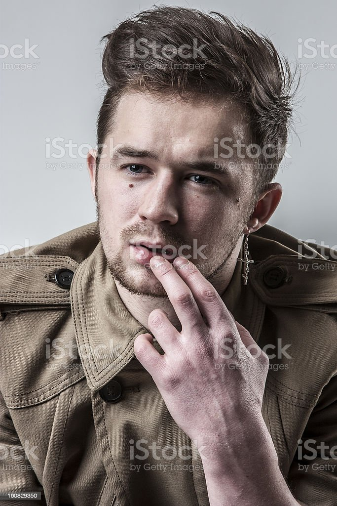 Fashionable man royalty-free stock photo