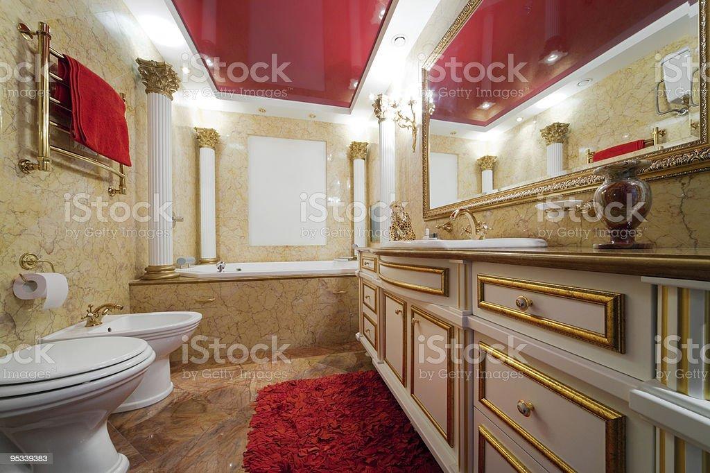 Fashionable marble bathroom royalty-free stock photo