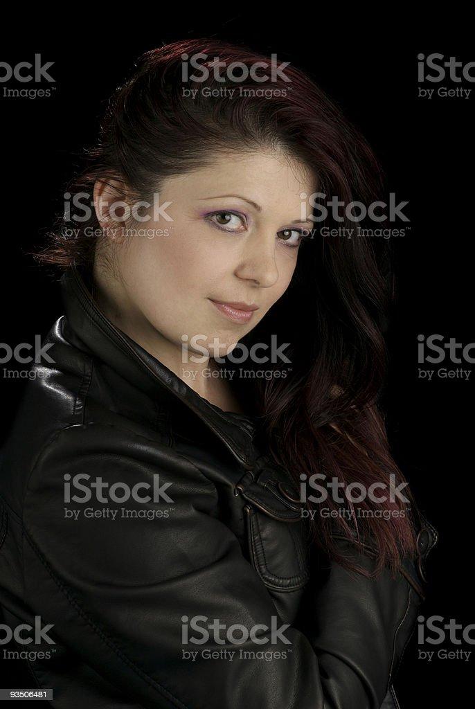 Fashionable Mid Adult Woman stock photo