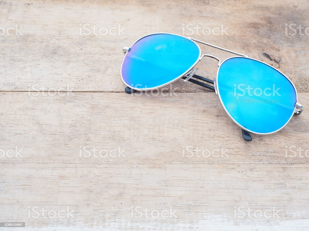 Fashionable mirror sunglasses stock photo